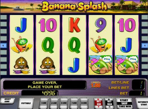 Banana Splash Spielen Sie den Spielautomat online
