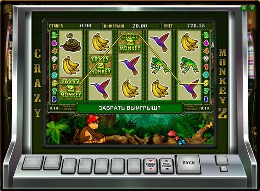 Bonus Kombination von Spielautomat Crazy Monkey 2