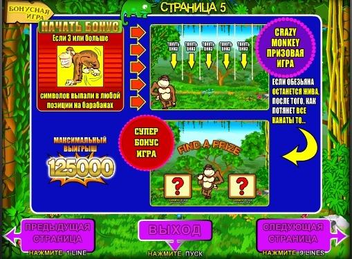 Bonusspiel Slot Crazy Monkey