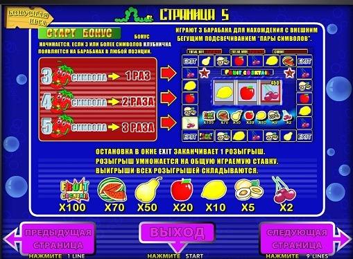 Bonusspiel von Spielautomat Fruit Cocktail