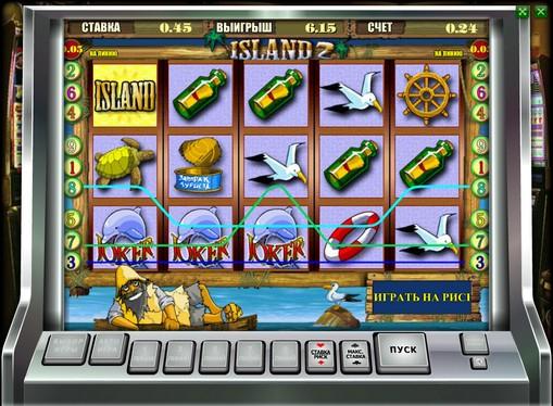 Das Aussehen des Spielautomat Island 2