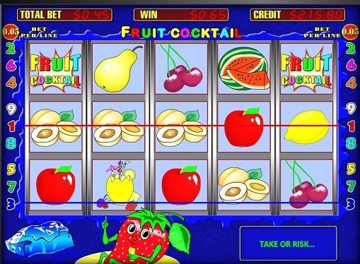 Die Rollen des Spielautomat Fruit Cocktail