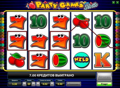 Die Rollen des Spielautomat Party Games Slotto
