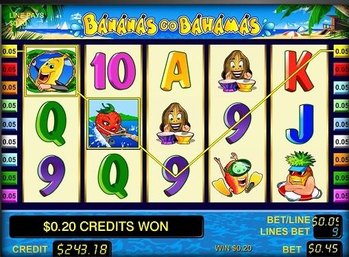 Die Walzen von Slot Bananas gehen Bahamas