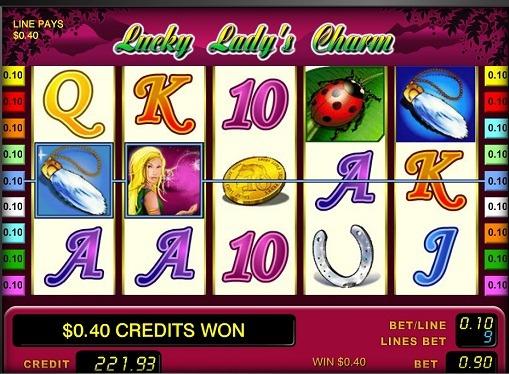 Die Rollen von Slot Lucky Lady's Charm