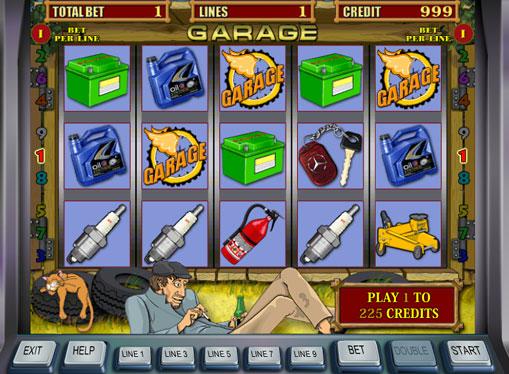 Garage Spielen Sie den Spielautomat online
