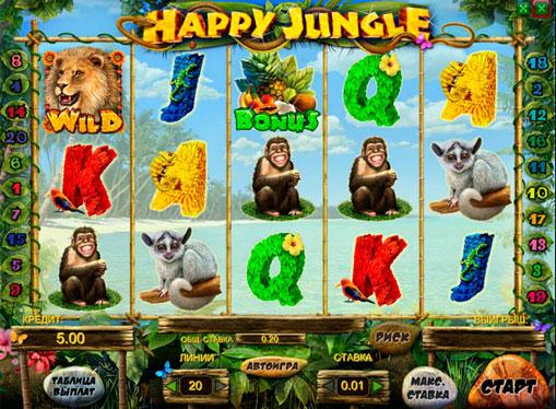 Happy Jungle Sie den Spielautomat online