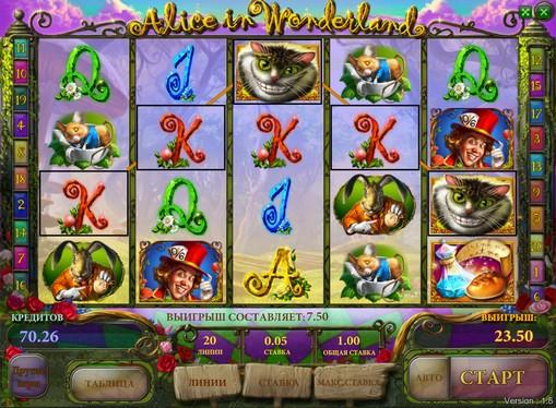 Preise von Spielautomat Alice in Wonderland