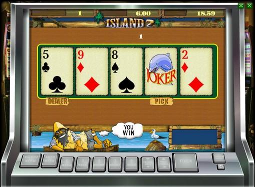 Verdoppelung Spiel des Spielautomat Island 2