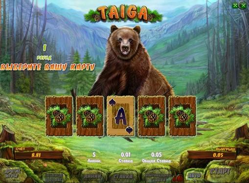 Verdoppelung Spiel von Pokies Taiga